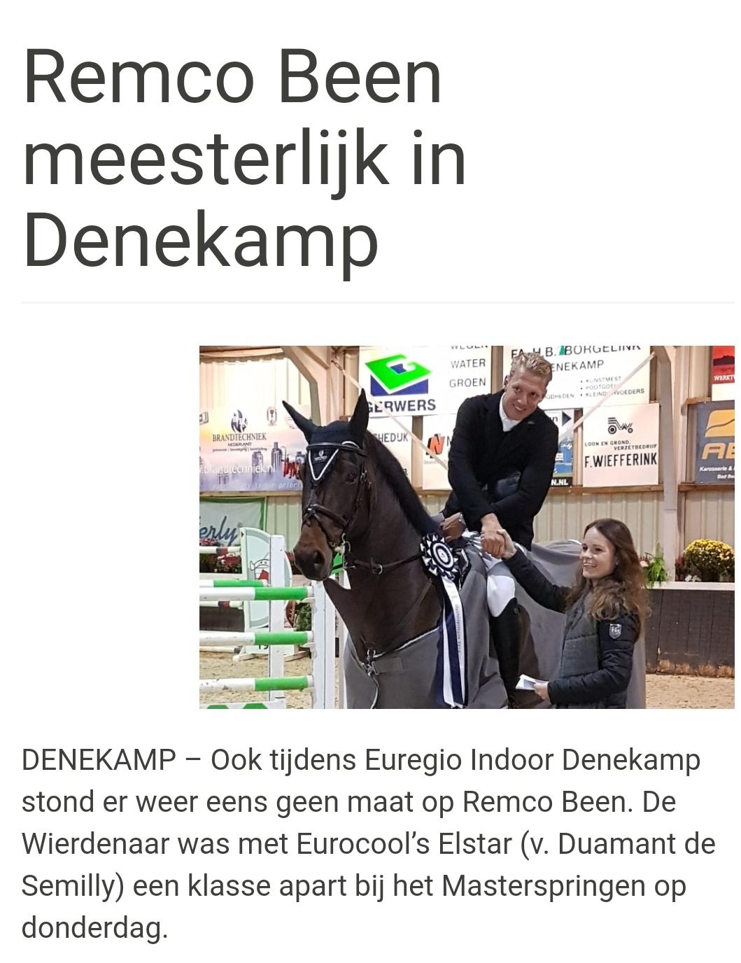 Eeurocool's Elstar met Remco Been